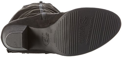 TOM TAILOR 1696104 - Stivali alti non imbottiti Donna Nero (Black)