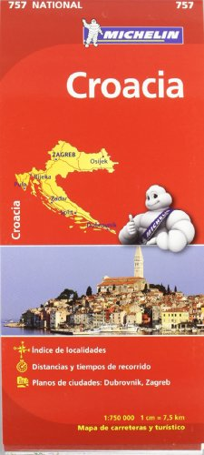 Mapa National Croacia (Mapas National Michelin) por Vv.Aa