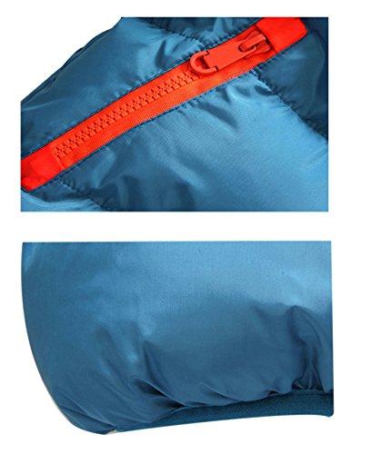 LANBAOSI Masculine Hiver Puffy doudoune épaissir manteau avec capuche Blue Orange