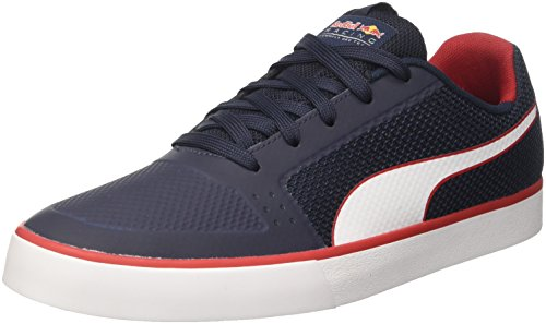 Puma Unisex-Erwachsene Rbr Wings Vulc Low-Top Blau (total eclipse-puma white-chinese red 01)