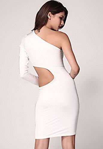 Dissa® femme Blanc SY2974-1L robe de cocktail Blanc