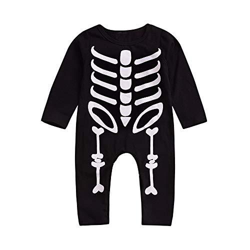 MIRRAY Baby Halloween Jumpsuit Kleinkind Langen Ärmeln Skull Gedruckt Spielanzug Infant Overall
