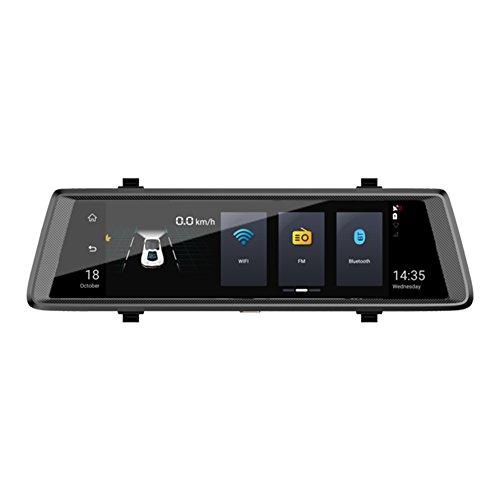 dual sim lte router Broadroot 10 Zoll Touchscreen 1080P FHD Dual Objektiv 4G WiFi Android 5.1 Auto Rückspiegel DVR Bluetooth Dash Cam ADAS GPS Navigator mit Rückfahrkamera (mit 16G Speicherkarte)