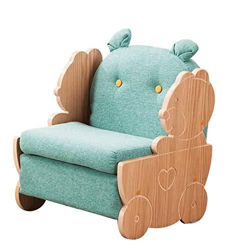 Canapés Canapé Pour Enfant Petit Accoudoir Garçon Simple Petit Canapé Adapté Pour Intérieur Vert Paresseux Chaise Siège Arrière (Color : Green, Size : 17.7 * 16.9 * 21.6in)