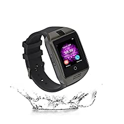 Smart Watches, Elec.bgs Bluetooth Touch Screen Smartwatch With Camera Sim Tf Card Pedometer Sports Fitness Tracker Smart Wrist For Android Samsung Huawei Sony & Ios (Part Function) (Black)