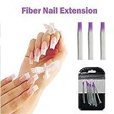 10 Teile/Paket Nagelform Fibernails Acryl Tipps Fiberglas Verlängerung Glasfaser für Nägel Seide Gebäude Erweiterung