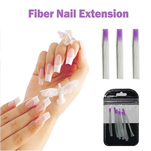 Jiadi 10 Teile/Paket Nagelform Fibernails Acryl Tipps Fiberglas Verlängerung Glasfaser für Nagelverlängerung