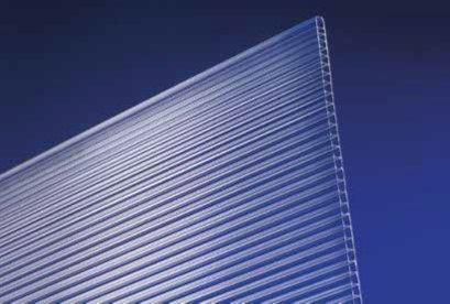 Stegplatten, Hohlkammerplatten, Doppelstegplatten, Gewächshausplatten, 10 mm stark, klar, 1500 mm x 698 mm,