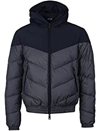 Armani Jeans Puffer Jacket In Navy
