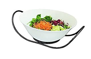 MEPRA Stainless Steel Due Oro Nero Salad Bowl with Stand (B00GXVHO0O) | Amazon price tracker / tracking, Amazon price history charts, Amazon price watches, Amazon price drop alerts