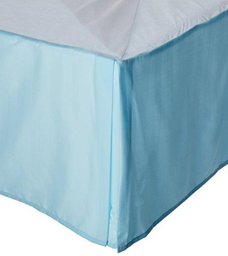 'knitterfreie–Ägyptische Qualität Streifen Bett Rock–plissiert Tailored 35,6cm Drop–alle Größen und Farben California King Aqua -