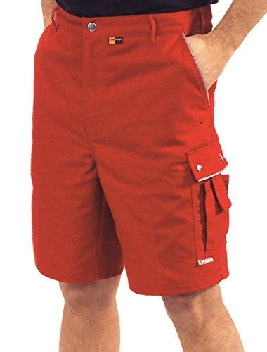 "Planam Arbeitsshort ""Canvas 320"" (L, rot/rot)"