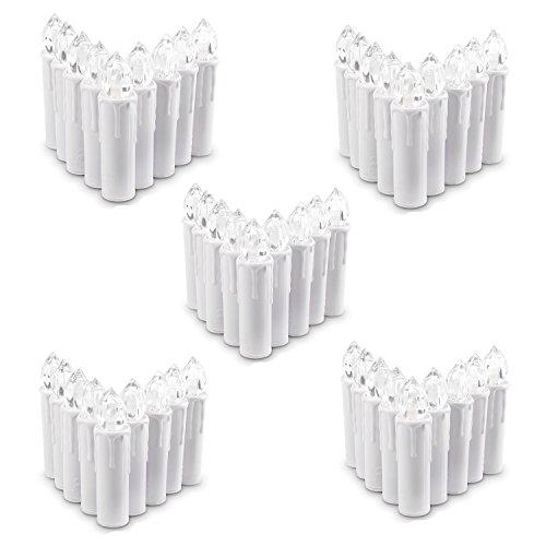 se LED Taper Weiß Christmas Kerzen Licht Kerzen betrieben, mit Fernbedienung, für Weihnachten, Weihnachtsbaum, Hochzeit, Votiv, Hochzeitsdeko, Partys, Geburtstags (50 Stück) ()
