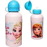 Unbekannt Aluflasche / Trinkflasche -  Disney die Eiskönigin - Frozen  - auslaufsicher - 500 ml - Aluminium - für Kinder - Sportflasche 0,5 Liter / Alutrinkflasche - ..
