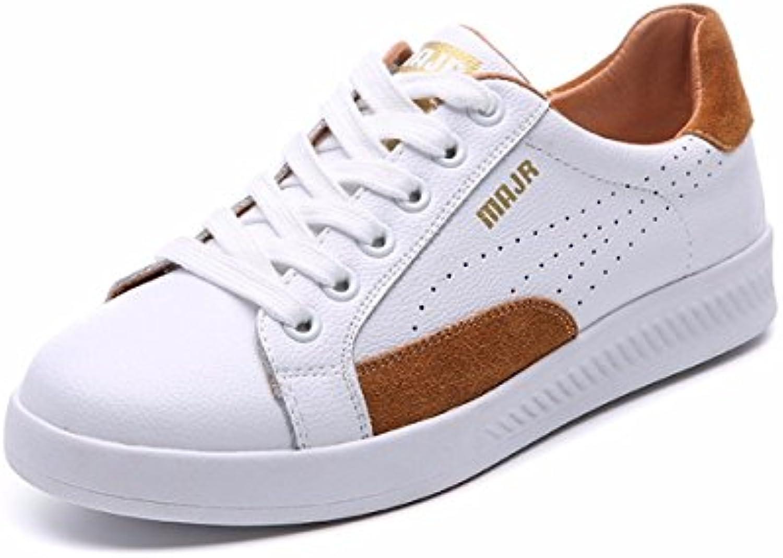 GTVERNH Damenschuhe/Im Frühjahr Leder Vorstand Schuhe Frauen Freizeit Einzelne Schuhe Wild Schuhe Studenten -ö