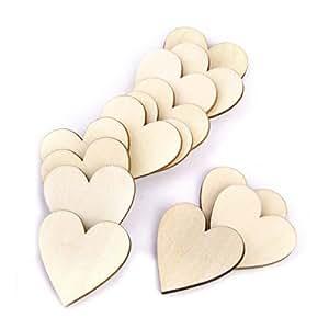 Vorcool cuori di legno cuore di legno fette dischi per for Dischi di legno