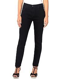 KRISP® Femmes Jeans Skinny Uni Denim Taille Haute Classique