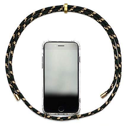 KNOK case Necklace für Handy Smartphone Hülle Handykette - iPhone Samsung Hülle (iPhone 6, Grün-Gold)