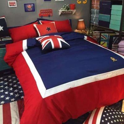 Soft 4 Pcs Bed Sheet Set Durable Quality Cotton Sheet & Pillowcase Sets ,A Queen (Cotton Bed Sheet Set Queen)