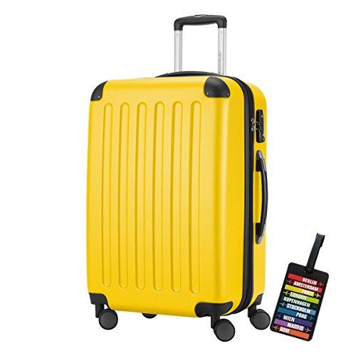 Hauptstadtkoffer Reisekoffer Spree 1203, 82 Liter, 65 cm, matt gelb\n