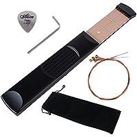(Kit da 5 pz) Tasca Chitarra 6 Corde 6 Fret Strumento Portatile per Pratica Allenare le Vostre Dita Mano Sinistra per i Principianti (Nessun suono quando in uso)