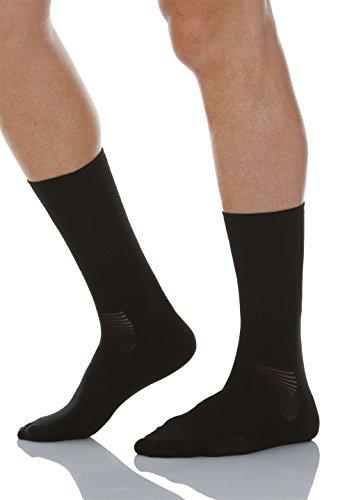 Relaxsan 560 (Noir, Taille 6) Chaussettes pour diabétiques avec fibre naturelle Crabyon