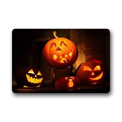 Custom Waschmaschine gewaschen Fußmatte –-Personalisierte Happy Halloween Langlebig Fußmatte/Gate Pad für Outdoor/Indoor 59,9cm (L) X 39,9cm (W)