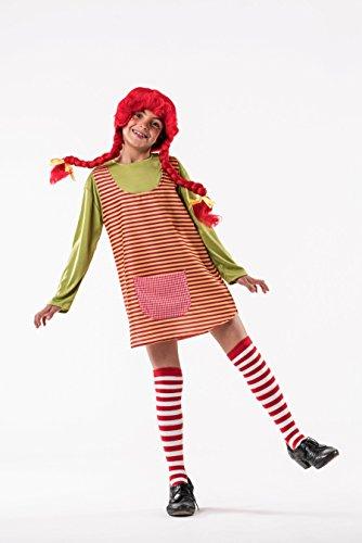 Costume da Pippi Calzelunghe a Righe per bambina A-(3/5 anni)
