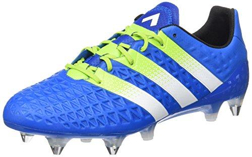 adidas Herren Ace 16.1 SG Fußballschuhe Blau (Shock Blue/Semi Solar Slime/Ftwr White)