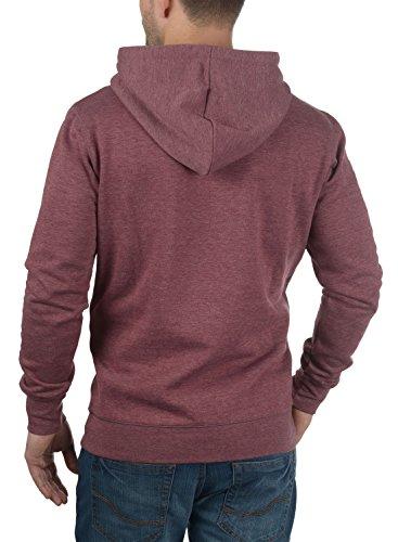 SOLID Bert Herren Kapuzenpullover Hoodie Sweatshirt aus hochwertiger Baumwollmischung Wine Red Melange (8985)