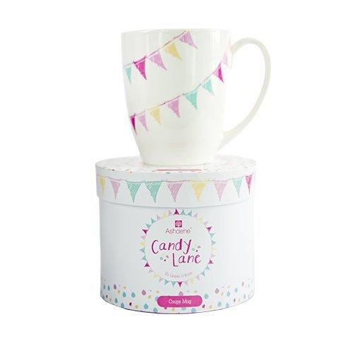 Ashdene Candy Lane - Fine Bone China Cup Mug Porzellantasse Tasse Becher tazza taza 10,5cm 350ml, by Lauren O'Brien, Gift box, best quality, ASHDENE, Australia (China Bone Lane)