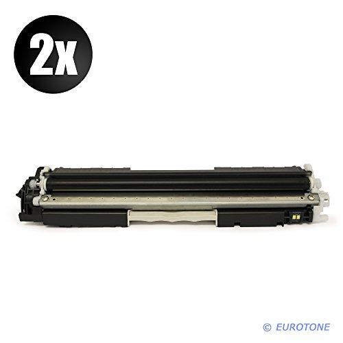 2X Eurotone MARKENTONER remanufactured für Color Laserjet Pro MFP M 176 n, M 177 fw Serien - ersetzen HP Schwarze CF350A BK Patrone Original EUROTONE (ISO-Norm 19798) (Hp-drucker-tinten-35a)