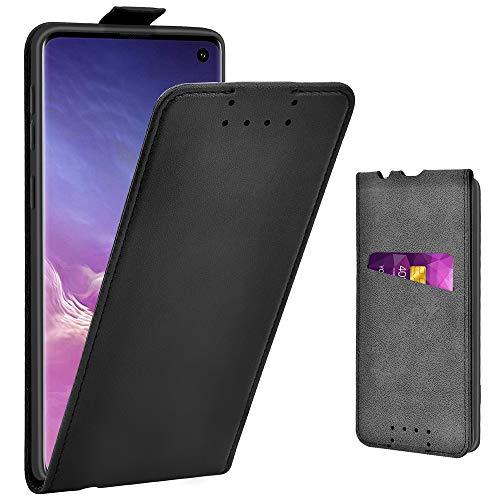 Adicase Galaxy S10 Hülle Leder Tasche für Samsung Galaxy S10 Handyhülle Flip Case Schut