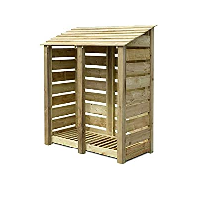 Cottesmore 6ft High Wooden Log Store/Garden Storage - Heavy Duty With Pressure Treated Wood