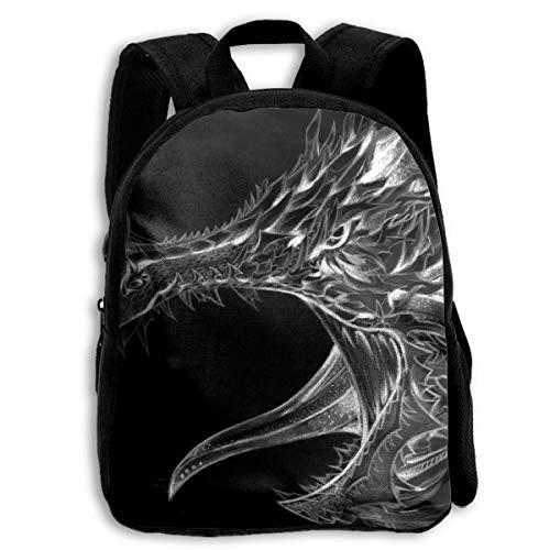 Schulrucksack, Amazing Dragon School Backpack Knapsack Fashion Daypack Children Book Bag for Kids Boys Girls -