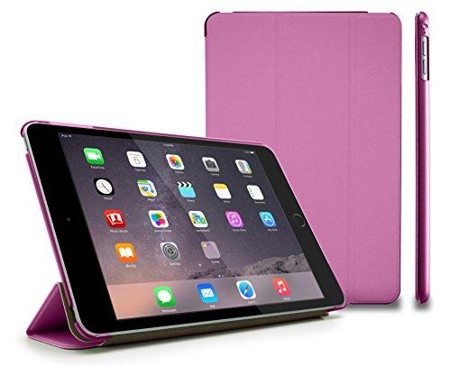 MyGadget Hülle für Apple iPad Mini 4 Case mit Smart Auto Einschlaf/Aufwach Funktion - Cover zum Aufstellen klappbare stoßfeste Schutzhülle in Pink