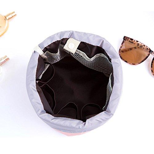 Borsa portaoggetti per cosmetici, Aliyao Impermeabile Sacchetto di stoccaggio cosmetico Viaggio Trucco Da Borsa Grande capacità Travel Kit Organizer Bagno Multifunzionale Secchio (Azzurro leggero) Blu scuro