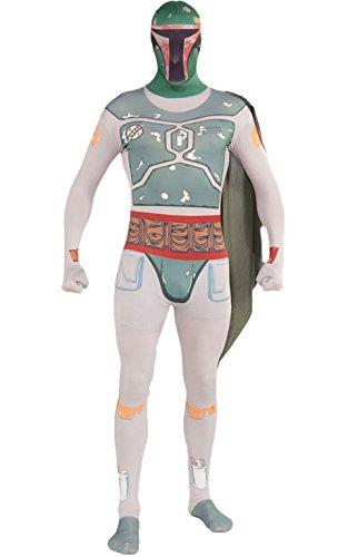 tar Wars Boba Fett 2nd Skin, Erwachsenen-Kostüm–Medium (Boba Fett Kostüme Damen)