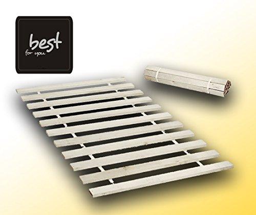 Best For Kids Rollrost 90x200 (10 Leisten auf 2 meter verteillt) nicht verstellbar unverstellbar Fichtenholz Rolllattenrost geeignet für Kinderbetten