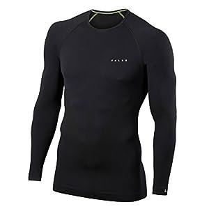 FALKE ESS Herren Warm Long Sleeve Close Fit Langarmshirt – 1 Stück, Größe S-XXL, versch. Farben,  – Feuchtigkeitsregulierend, schnelltrocknend, Schutz bei milden bis kalten Außentemperaturen