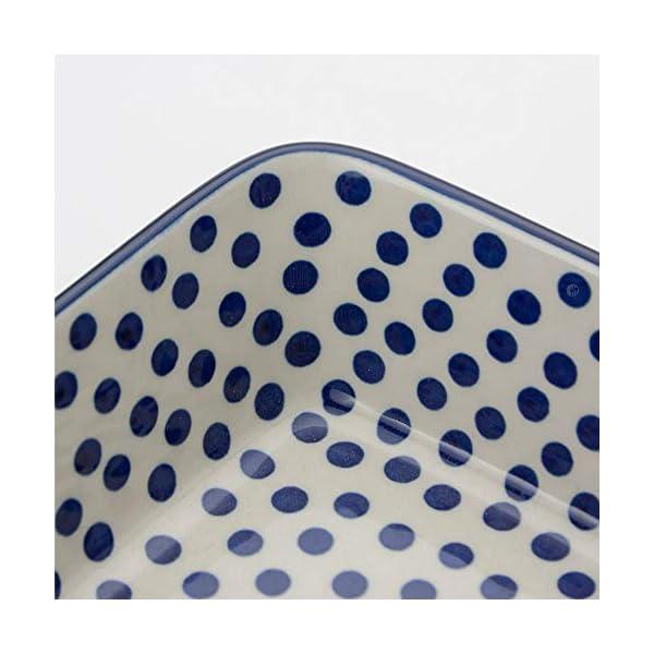 Polish Pottery Medium Lasagne Dish – Small Blue Dot – 28 x 23cm