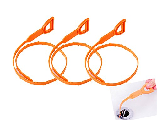 50,8cm di scarico strumento di pulizia, capelli Drain Clog Remover Catcher Snake strumento di pulizia, 3PACKS