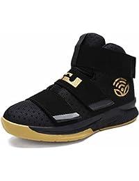 Hombres Al Aire Libre Respirable Zapatillas 2018 Verano Nuevo Amortiguación Baloncesto Zapatos Entrenadores ( Color : Yellow , tamaño : 41 )