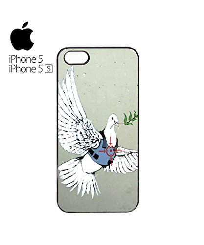 Banksy Peace War Bird Peagon Target Cell Phone Case Cover iPhone 5c Black Schwarz