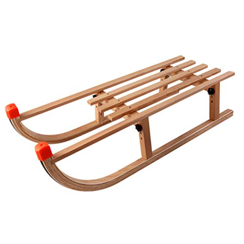 ChangDe SOHP Slitta da slittino in Legno da Pattino per Auto importata da slittino da Slitta in Legno da slittino Originale in Legno Outdoor Slitta della Neve (Color : Orange)