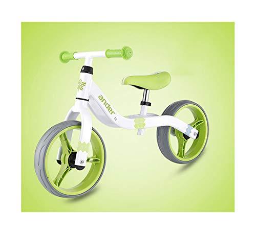 12 ''Kinder Balance Auto Ohne Pedale Slider Bike Super Licht Gewicht Fahrrad Fit FüR 1-6 Jahre Alt 75-125 cm Kind Roller(2.62kg),Green