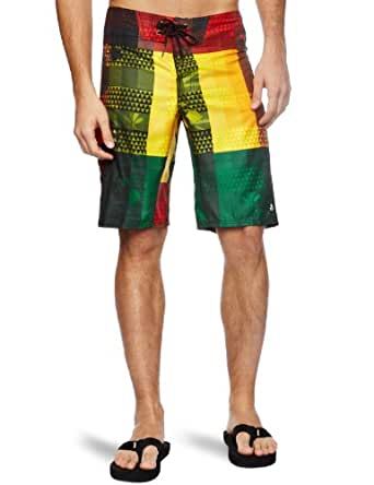 Reef Men's Reef Army Beach Boardshort, Rasta, 33