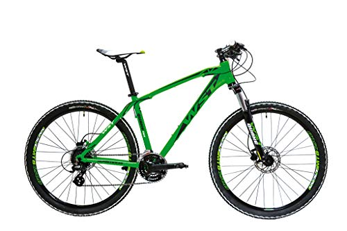 WST Quake 724 Bicicleta de Montaña, Adultos Unisex, Verde, L