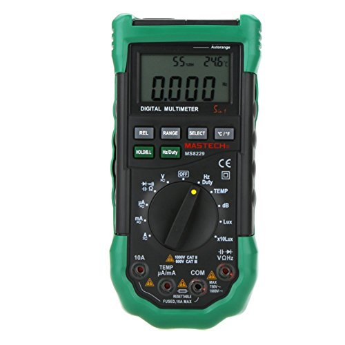 Amazon.co.uk - MASTECH MS8229 Auto Range Multimeter & Temperature Humidity Light Lux Sound Level Meter