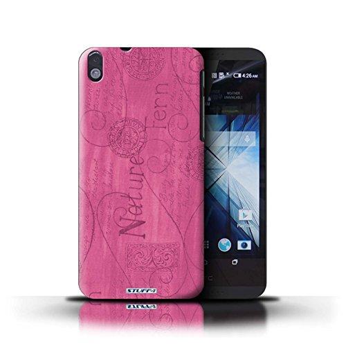 Kobalt® Imprimé Etui / Coque pour HTC Desire 816 / Jaune conception / Série Motif Nature Rose